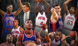 "Bad Boy"" Detroit Pistons 1989-1990 NBA Champions - PURE PISTONS"
