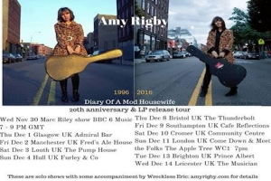 Lucky UK - Amy Rigby is on tour here (with assistance from her husband Wreckless Eric).